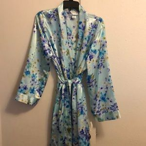 New! Teal floral robe